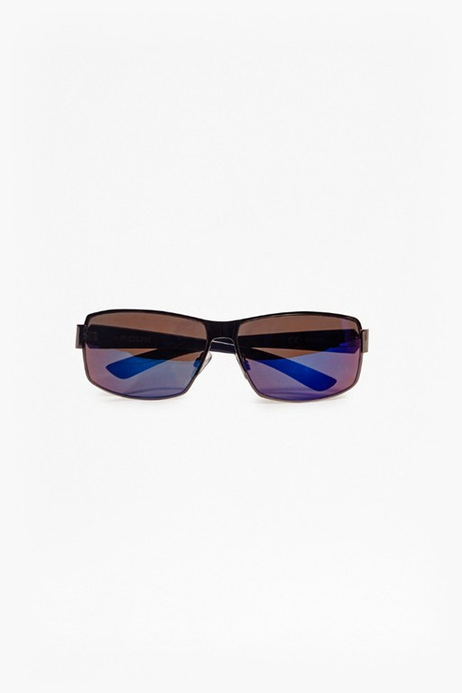 reverse groove metal wrap sunglasses