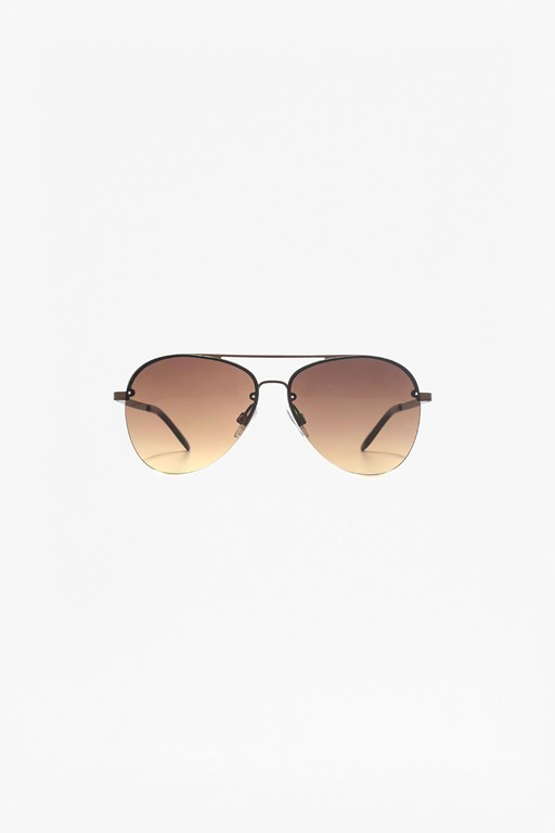 back rim aviator sunglasses
