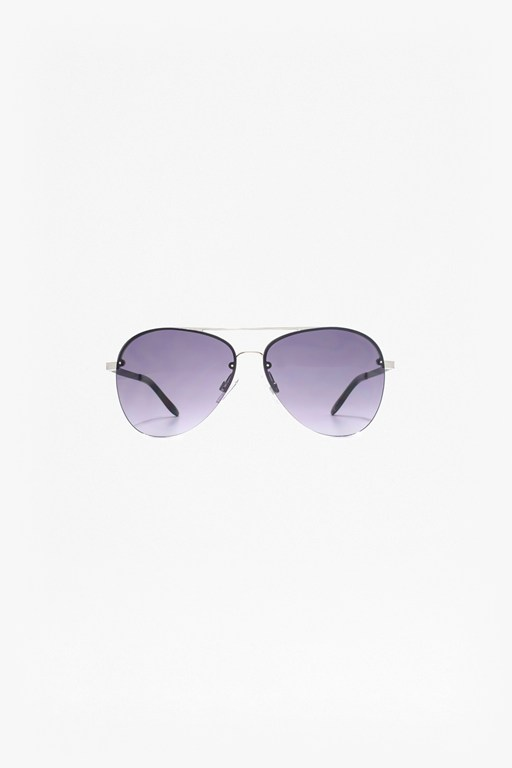 Complete the Look Back Rim Aviator Sunglasses