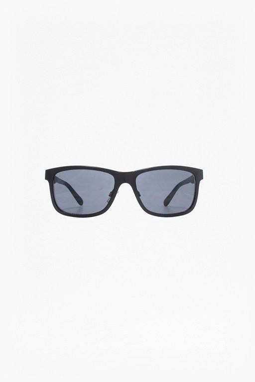 Complete the Look Metal Retro Sunglasses with Plastic Temple