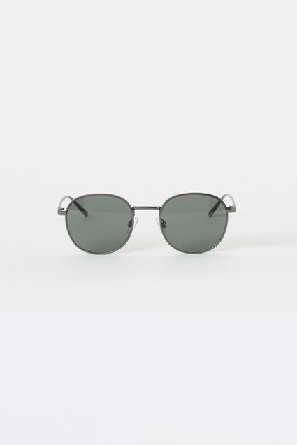 Chunky Metal Round Sunglasses
