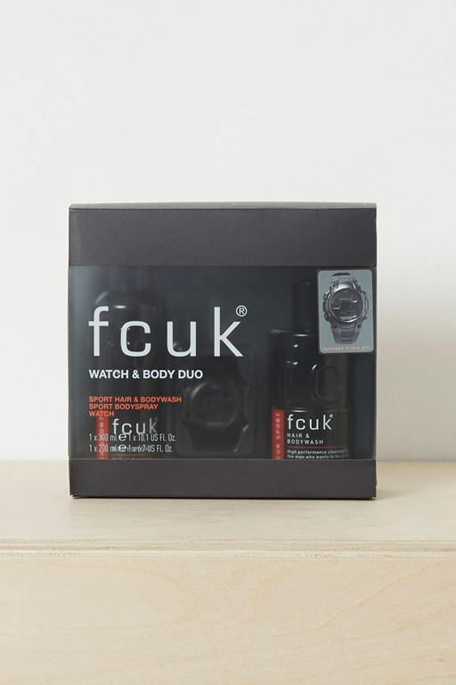watch and fcuk sport duo gift set