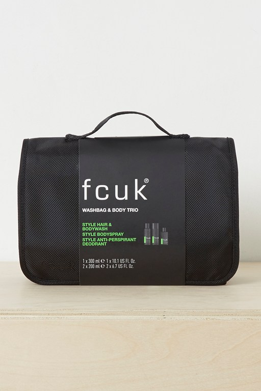 washbag and fcuk style gift set