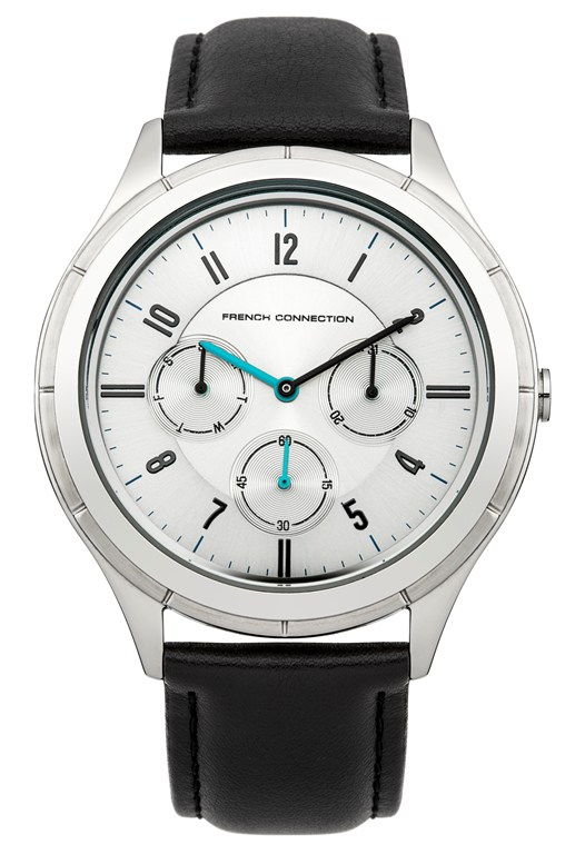 Silver Dial Leather Watch