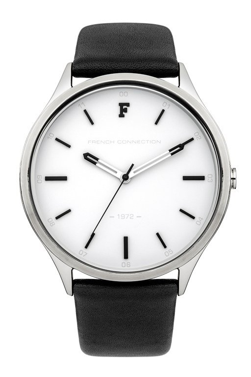 kensington grand monochrome leather strap watch