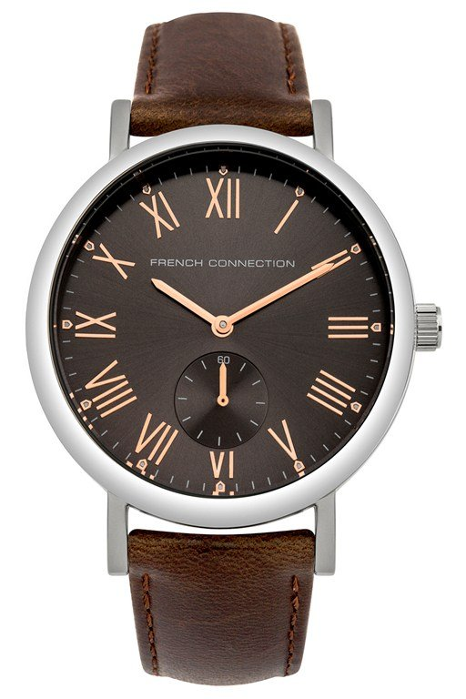 polished case leather strap