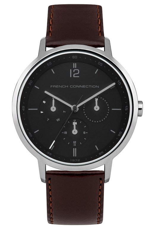 39mm leather strap watch