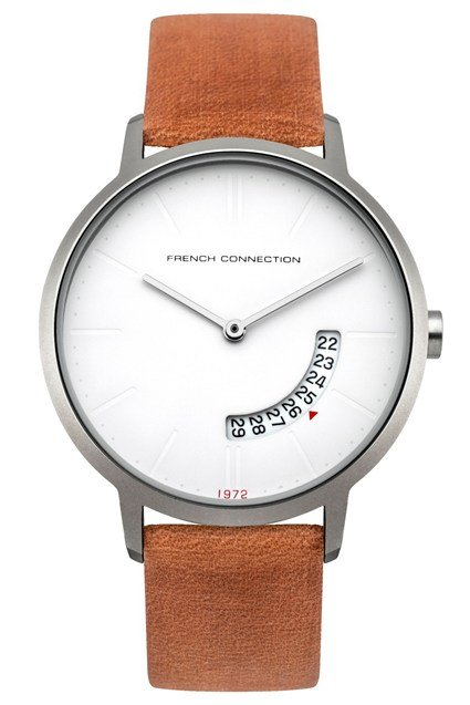 39MM Brown Leather Strap Watch