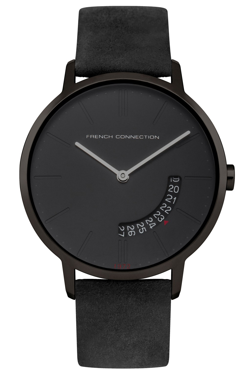 39MM Black Leather Strap Watch | Mens Accessories