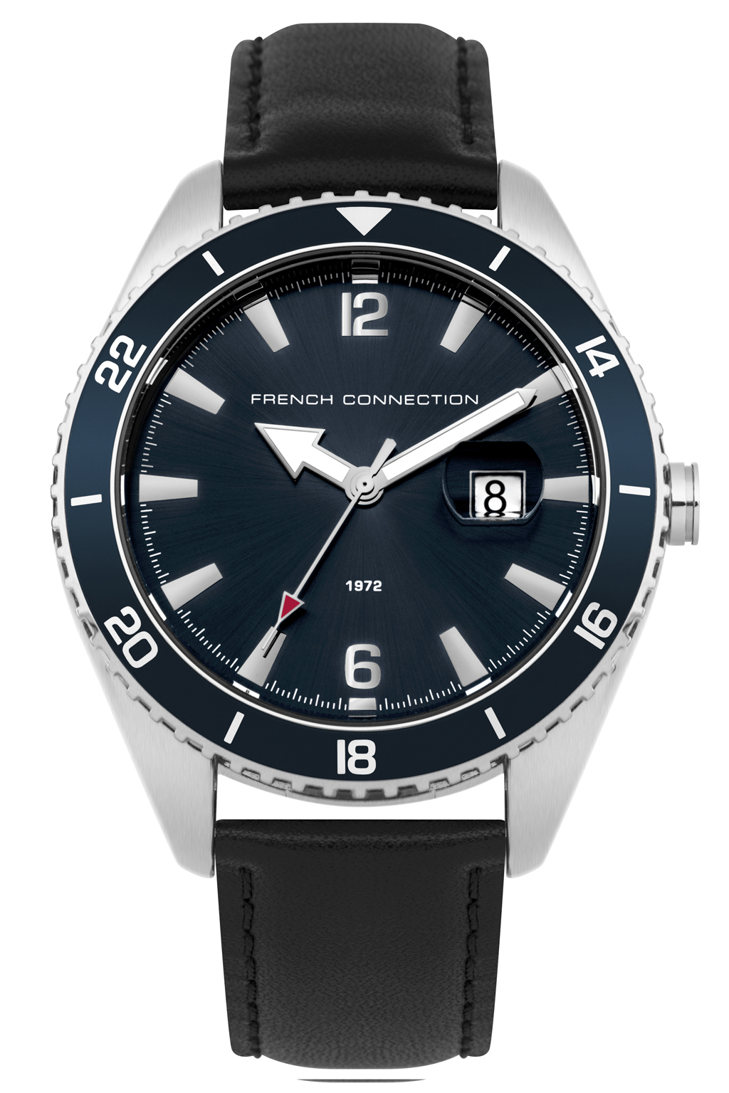 Blue Dial Leather Watch | Mens Accessories