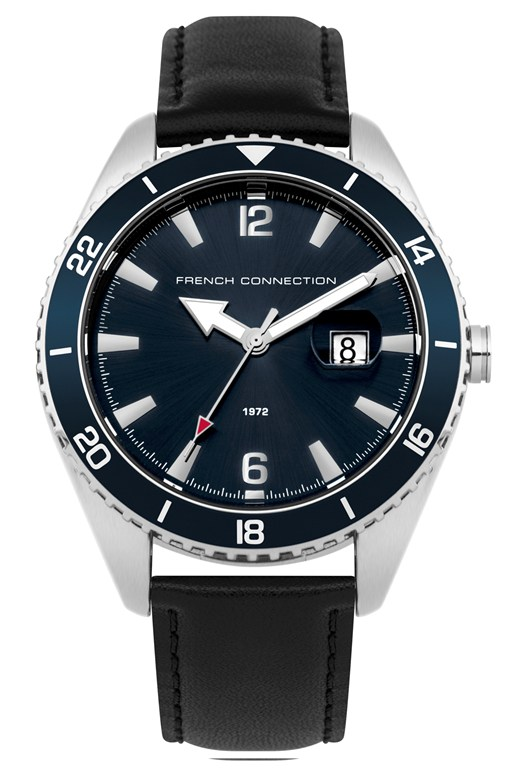 Complete the Look Blue Dial Leather Watch