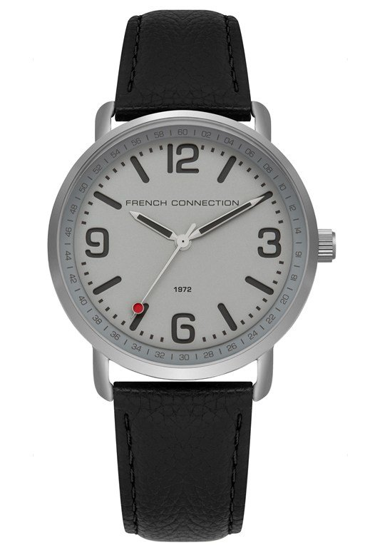 padded leather strap watch