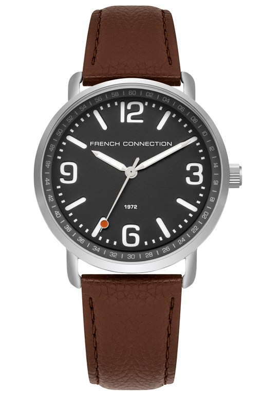 Complete the Look Padded Leather Strap Watch