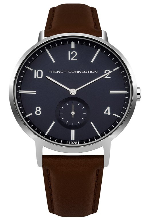 Complete the Look Polished Case Leather Strap Watch