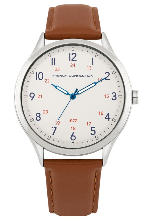 Complete the Look Tan Leather Strap Watch