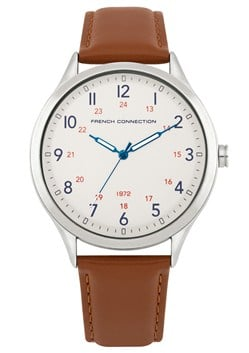 Tan Leather Strap Watch