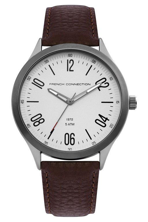Complete the Look Brown Leather Brushed Case Watch