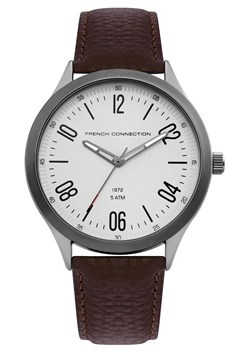 Brown Leather Brushed Case Watch