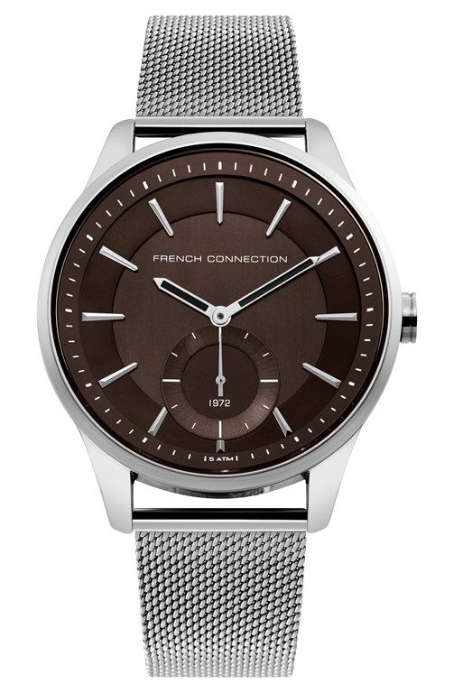 Complete the Look Silver Mesh Strap Watch