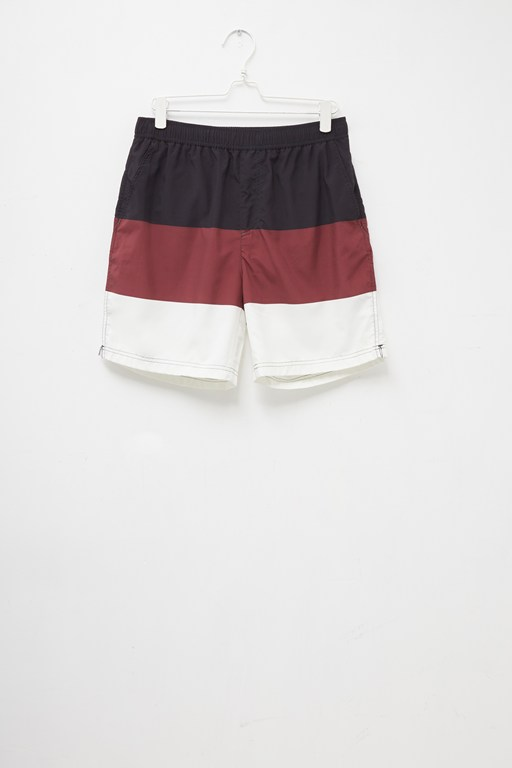 block colour swim shorts