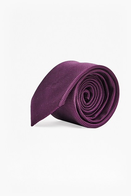 Purple Mini Spot Silk Tie