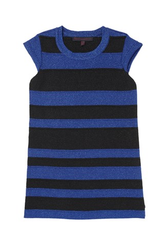 Band Of Colour Lurex Dress Blue