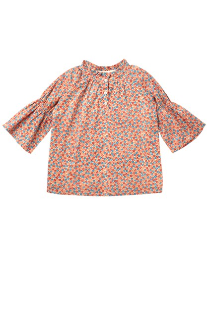 Ditsy Daydream Gathered Sleeve Top