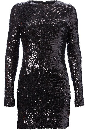 Ali Bastian Black Sequin Dress