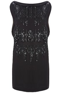 Silver Simmons Sequin Dress