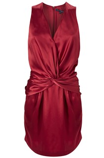 Holiday Silk Rouched Dress