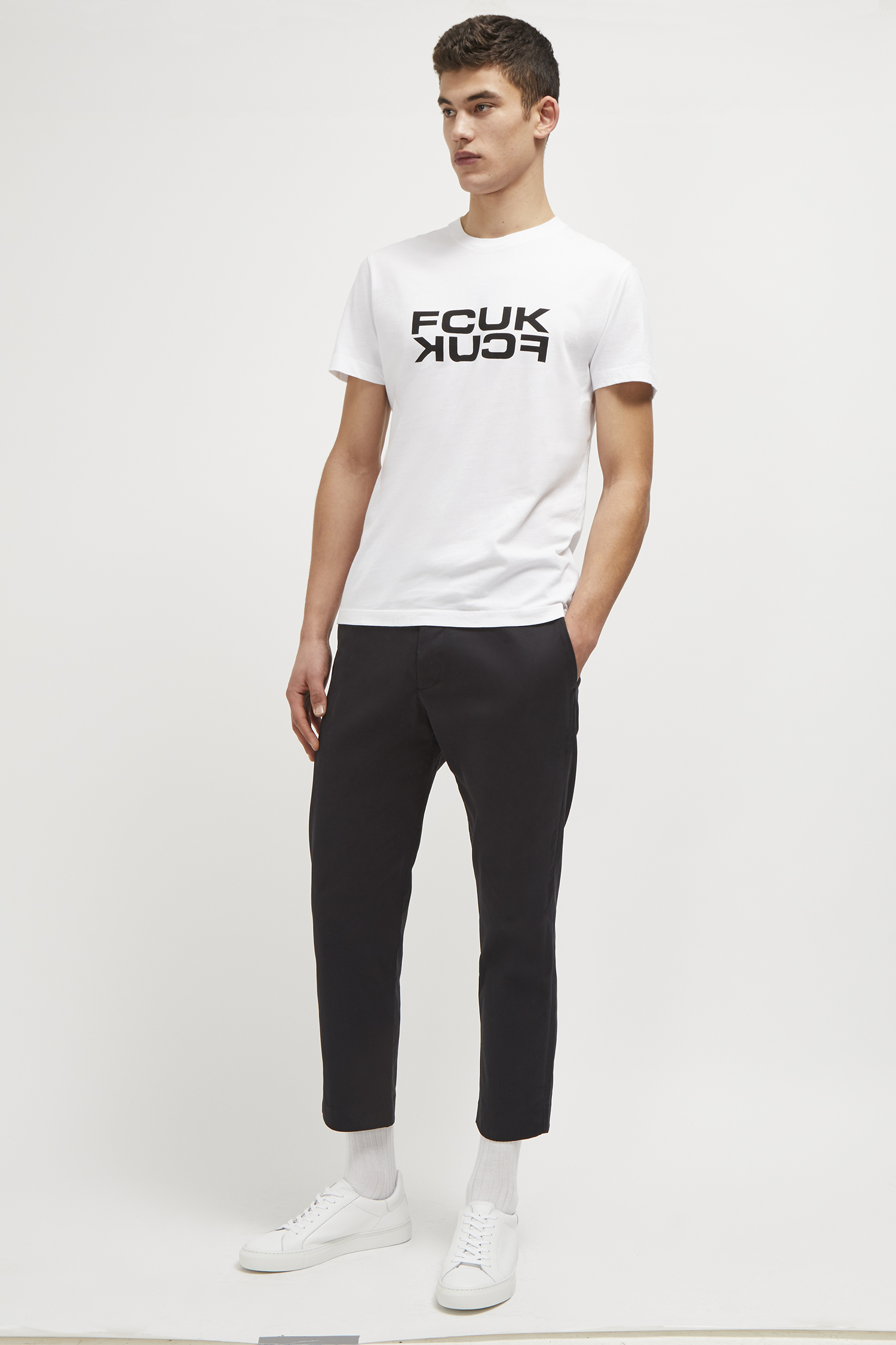 Fcuk Mirrored Slogan T Shirt Collections French Connection