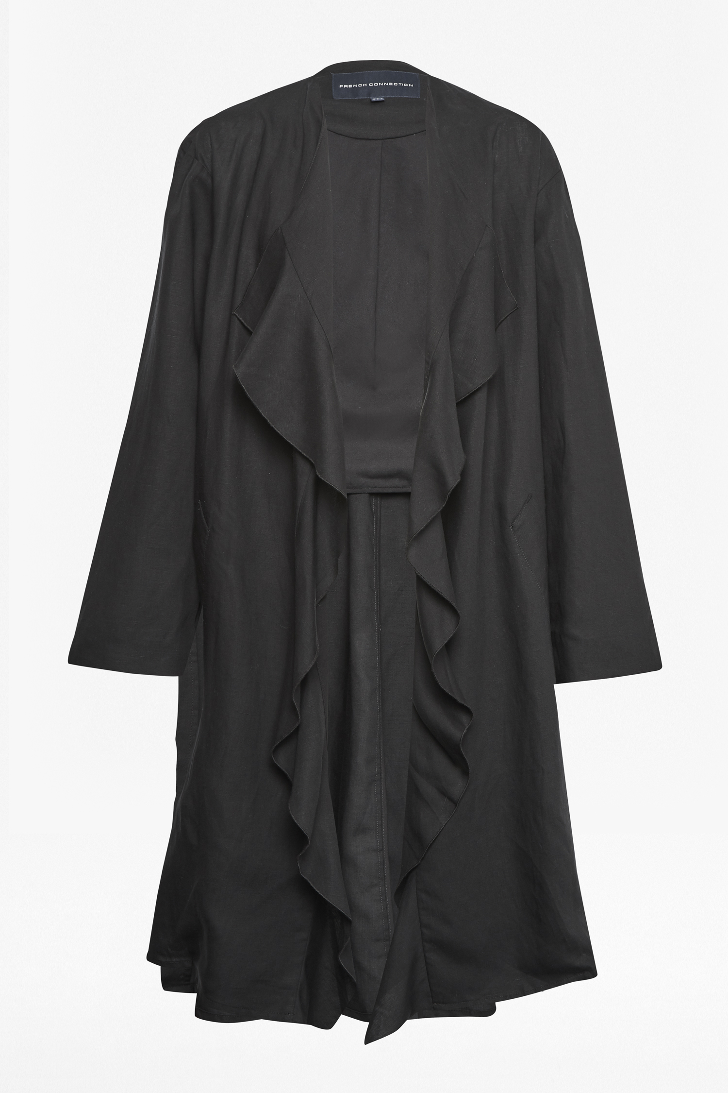 Dae Drape Ruffle Duster Coat Jackets Amp Coats French