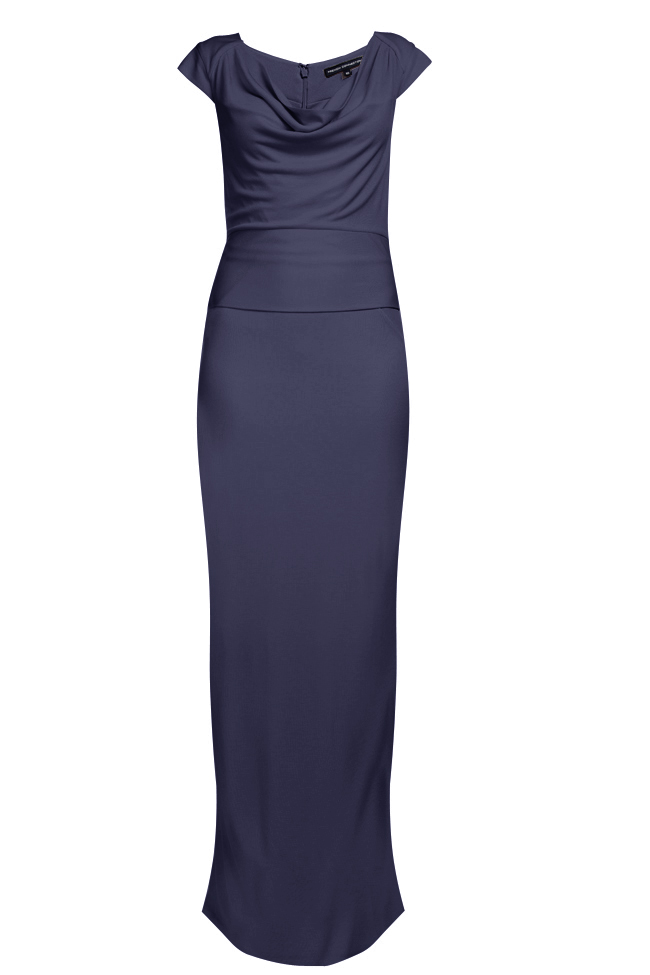 New-French-Connection-Crepe-Jersey-Maxi-Dress-Blue