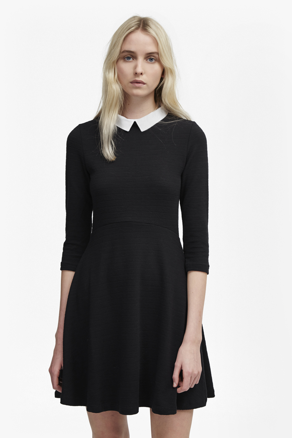 Fresh Jersey Shirt Collar Dress New Arrivals French