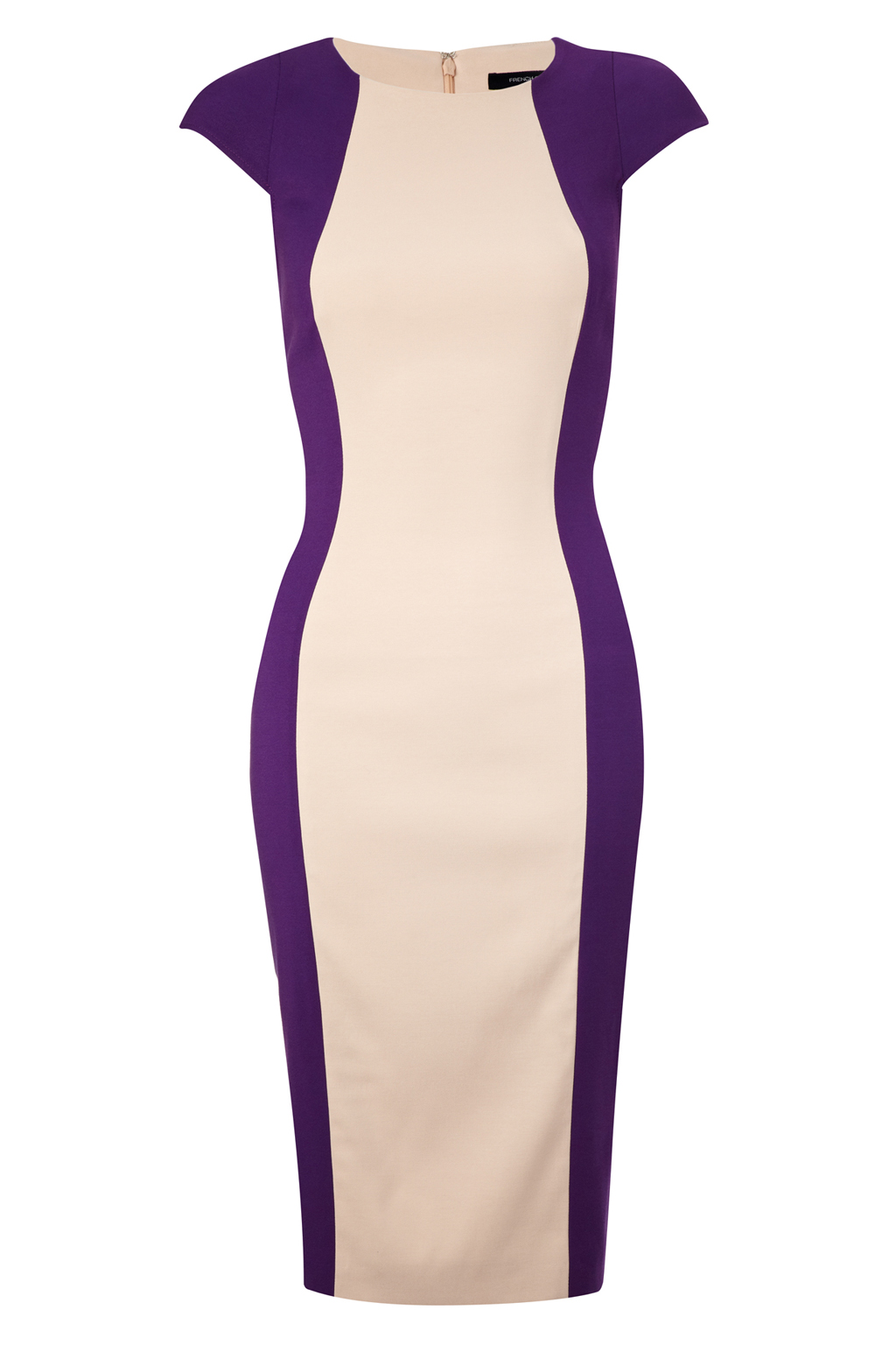 New-French-Connection-Reign-Block-Cap-Sleeve-Dress