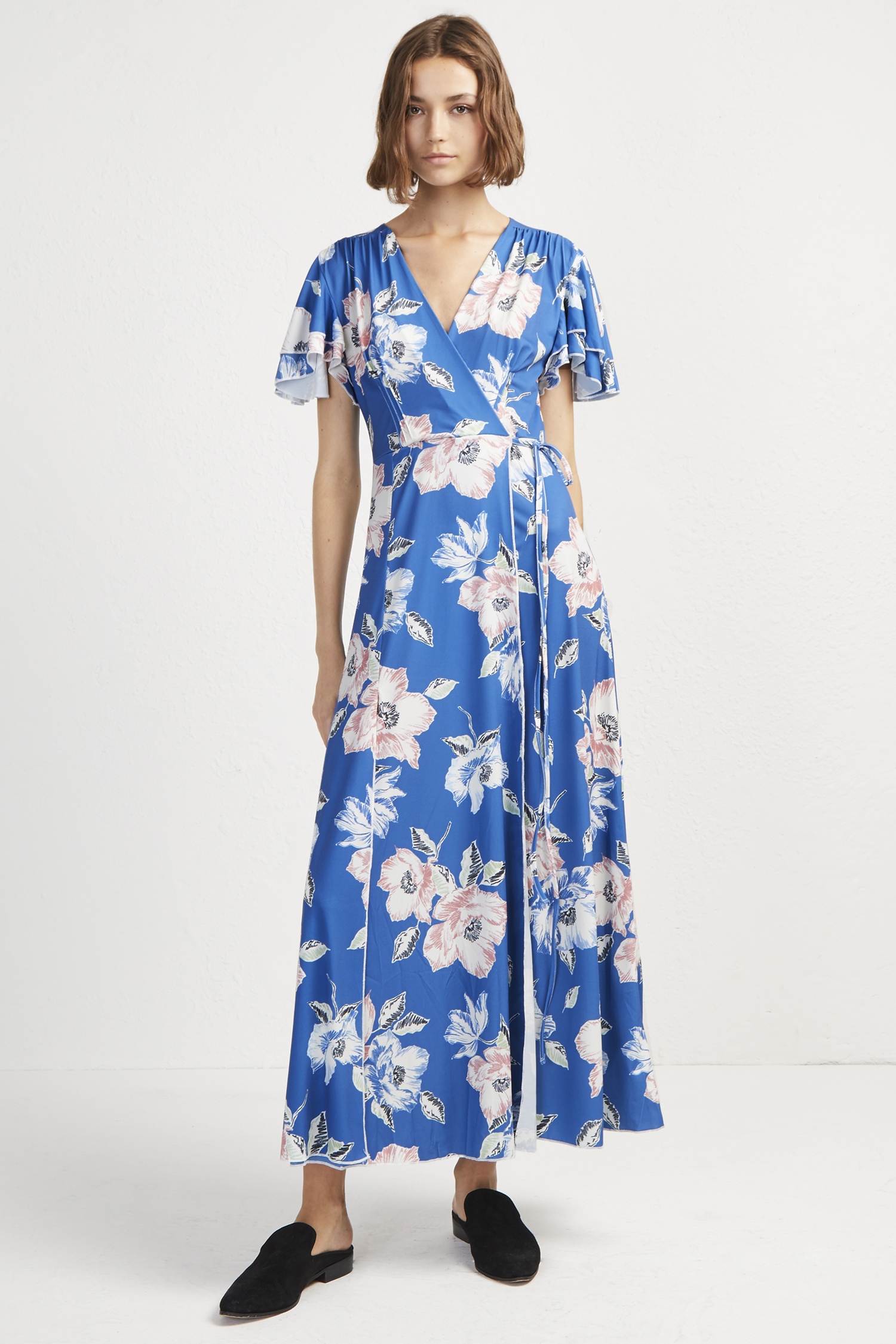 Cari Jersey Floral Midi Tea Dress Collections French