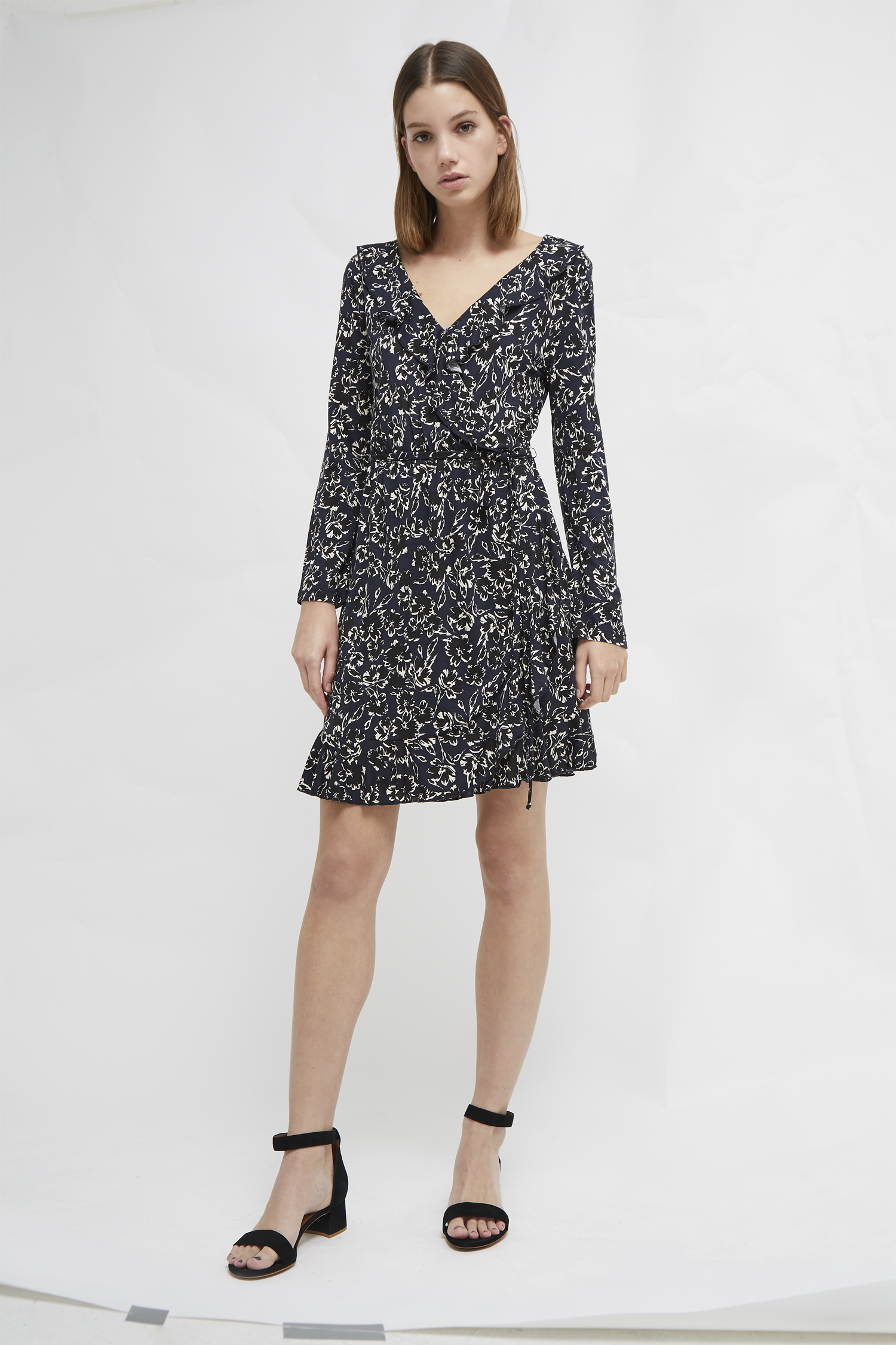 0f92f6b69ff Aubi Meadow Jersey Floral Wrap Dress   Collections   French Connection
