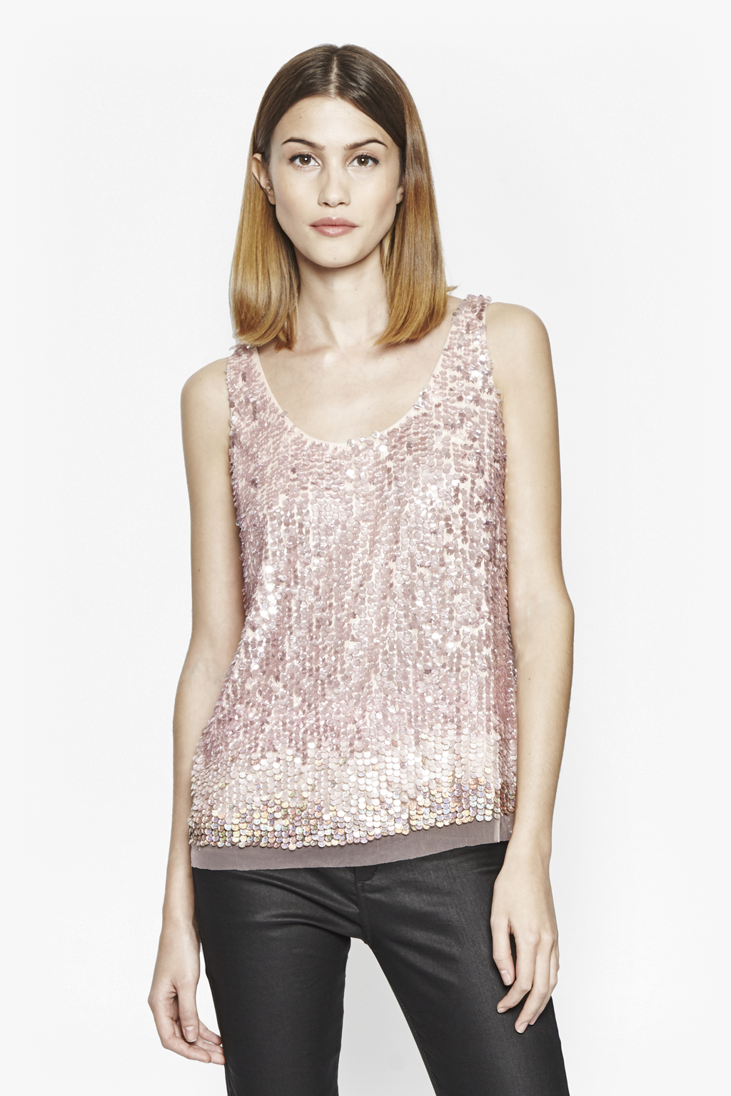 Sunbeamer Ombre Sequin Top Collections French Connection
