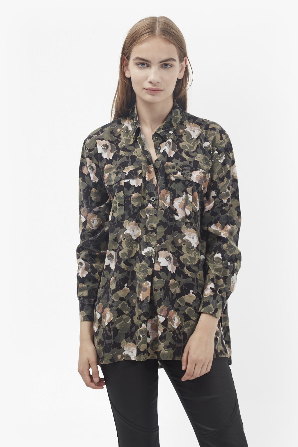 Adeline Dream Camo Oversized Shirt Collections French