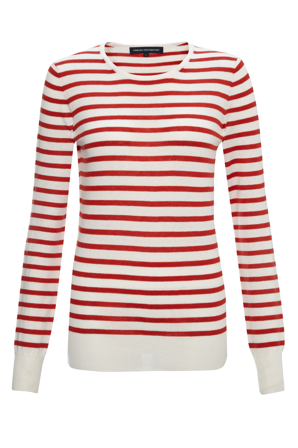 New-French-Connection-Long-Sleeve-Knits-Jumper-Pink-White