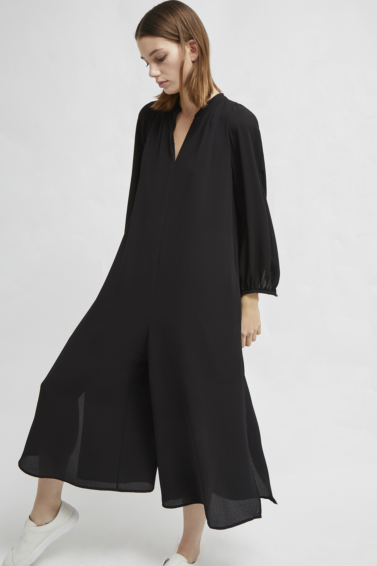 Mahi Drape Long Sleeve Jumpsuit Sale French Connection