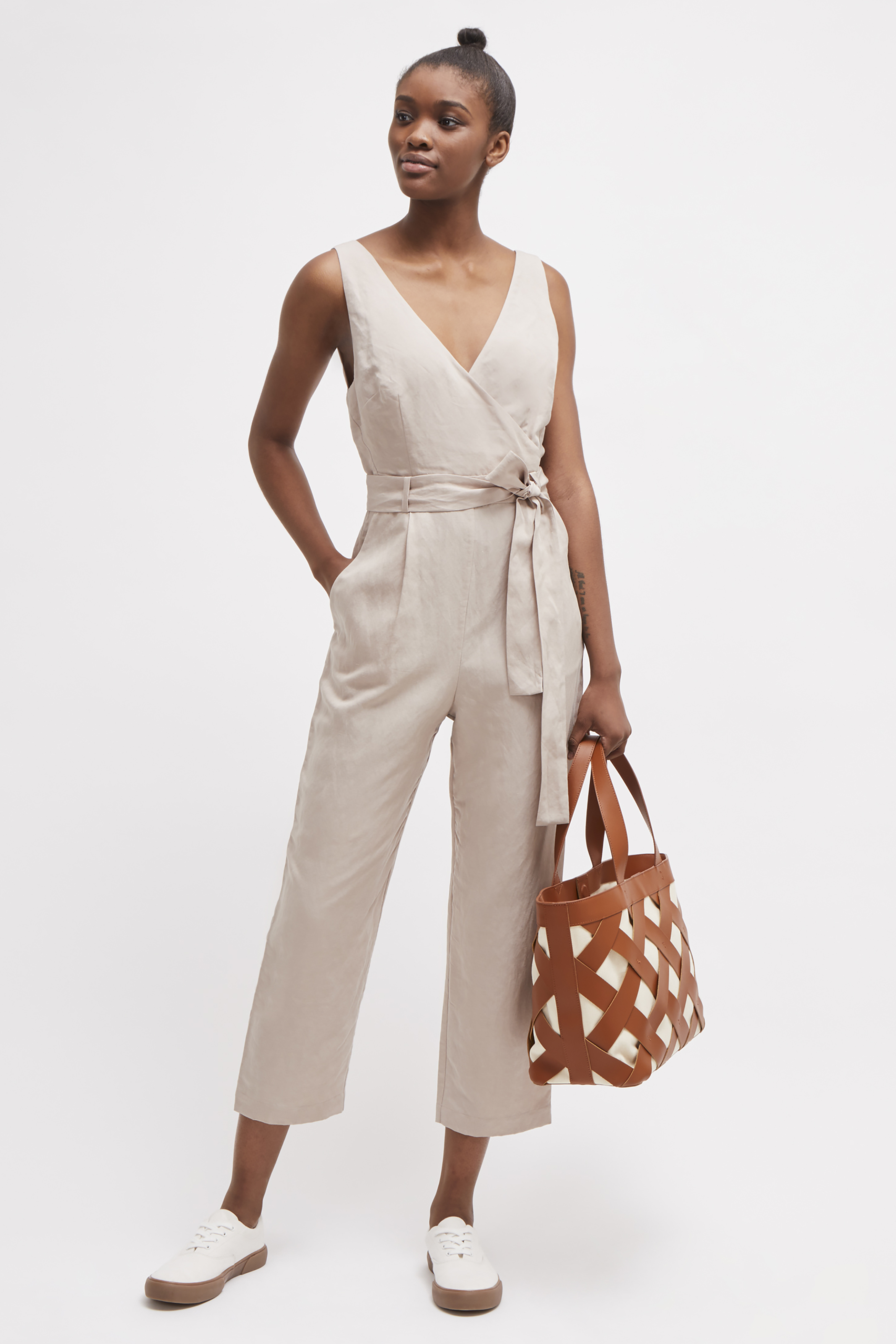 Briella Linen Blend Jumpsuit | Collections | French Connection