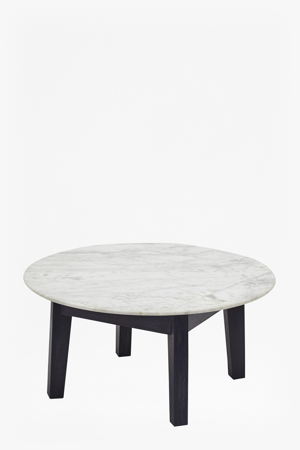 Contemporary Cappuccino Connect It Computer: Agra Round Marble Coffee Table