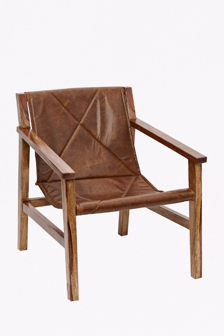 Leather sling back chair occasional furniture french for Furniture x connection