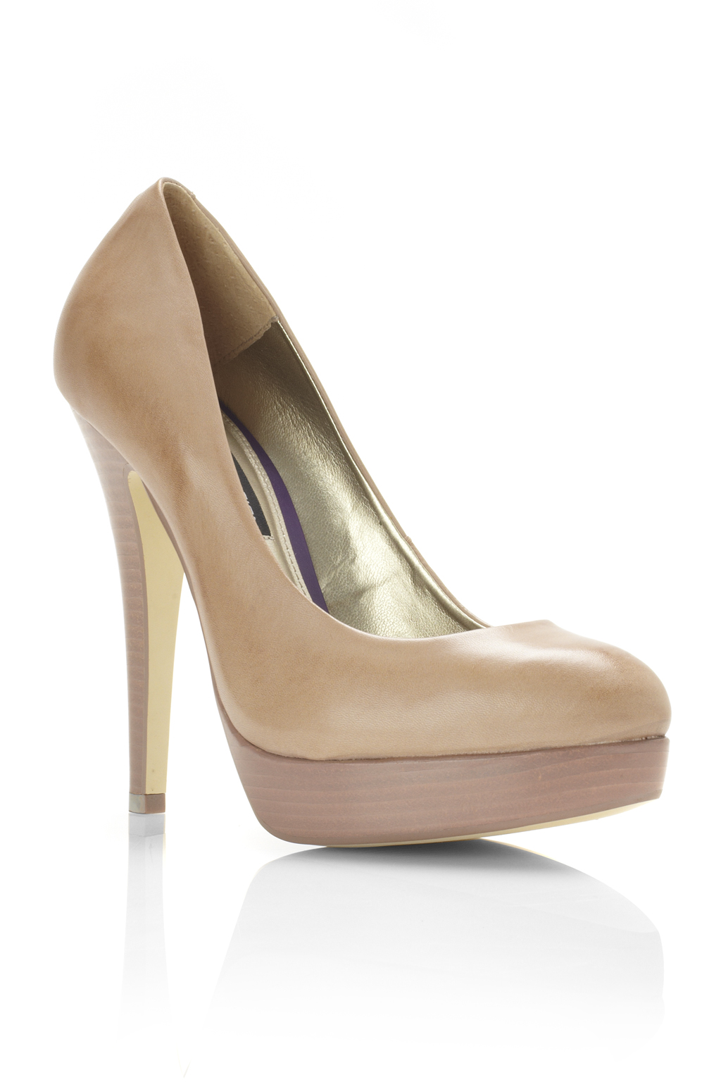 New-French-Connection-Platform-Court-Shoe-Nude